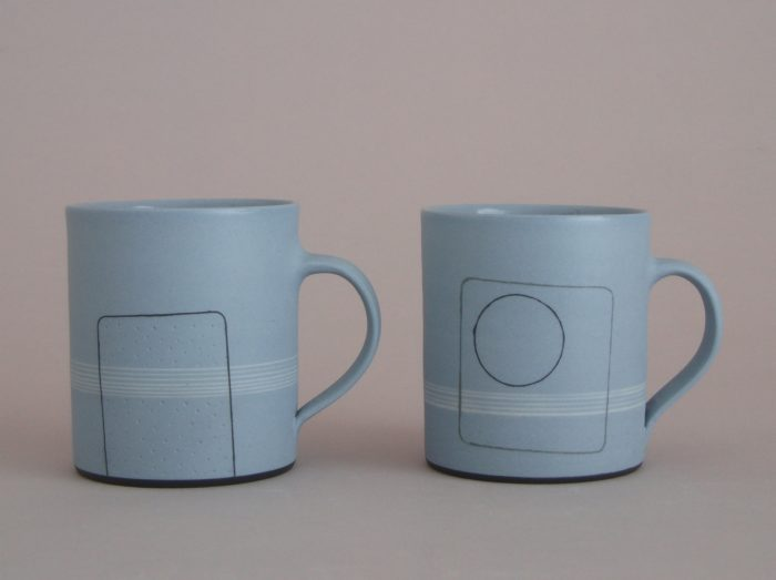 hand made thrown porcelain coffee cup mug
