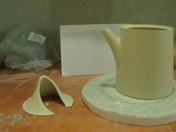 teapot under construction