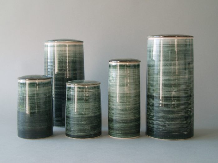 james & tilla waters lidded jars