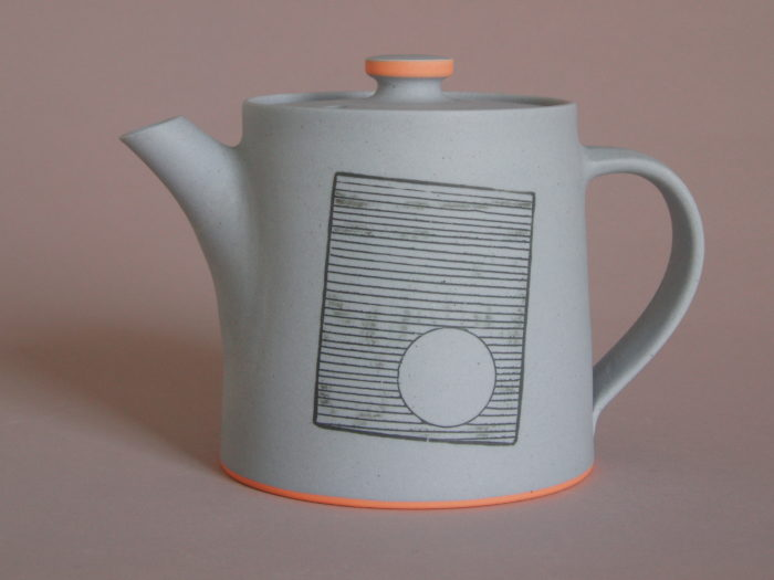 unglazed teapot by James and Tilla Waters