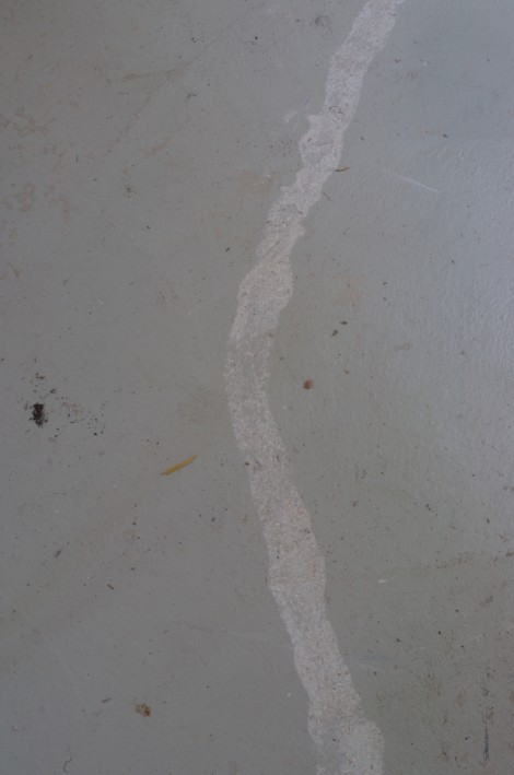 evidence of a spillage of slip on the workshop floor