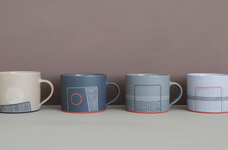 coloured small breakfast mugs james and tilla waters