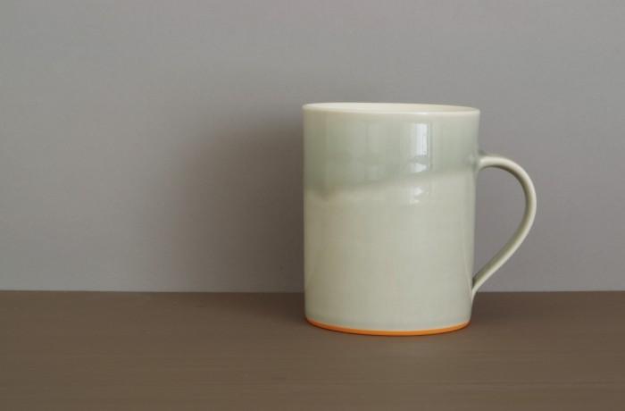 grey orange med mug by James and Tilla Waters