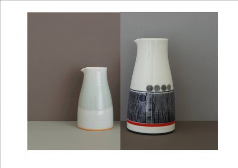 plain and decorated pourers