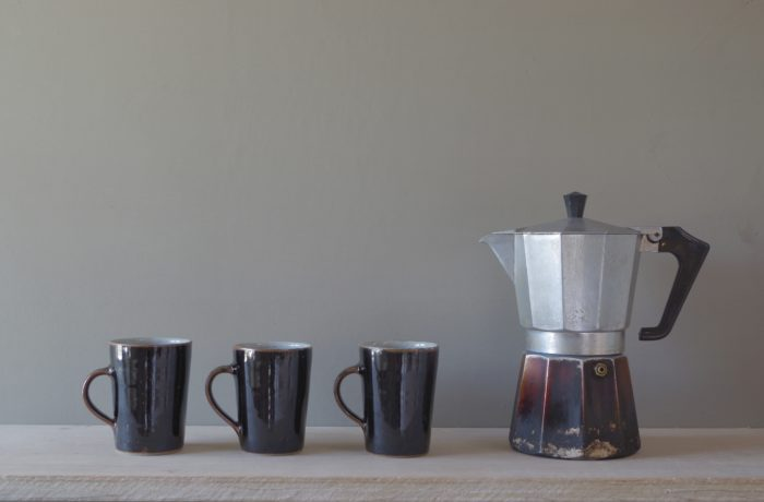 tenmoku coffee cups by James and Tilla Waters