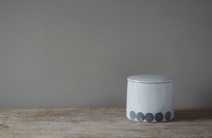 small thrown stoneware jar by James and Tilla Waters