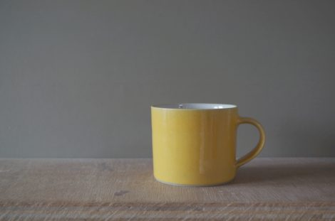 yellow breakfast mug by James and Tilla Waters