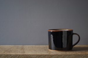 thrown stoneware breakfast mug by James and Tilla Waters